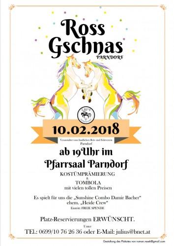 RossGschnas 2018  Fotos - Pfarrsaal Parndorf